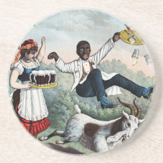 Bock, stock beer advertising poster, 1889 drink coasters