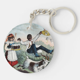 Bock, stock beer advertising poster, 1889 key chains
