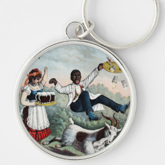 Bock, stock beer advertising poster, 1889 keychains