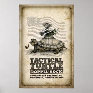 Bock táctico de Doppel de la tortuga Póster