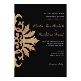 Boda 5x7 del Flourish de la voluta de Belice Invitacion Personal