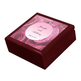 Boda abstracto color de rosa caja de joyas