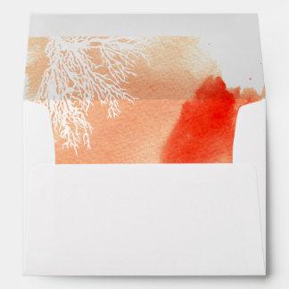 Boda abstracto moderno del arrecife de coral de la sobres