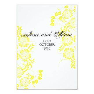 boda amarillo invitación 12,7 x 17,8 cm
