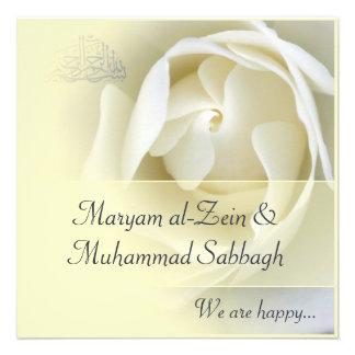 Boda amarillo islámico compromiso del rosa blanco comunicados personales