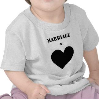 Boda amor camiseta