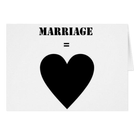 Boda = amor tarjeta de felicitación