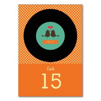 Boda anaranjado del disco de vinilo retro moderno