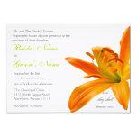 Boda anaranjado del lirio invitación 12,7 x 17,8 cm