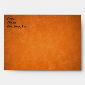 Boda anaranjado romántico del grunge del otoño sobres