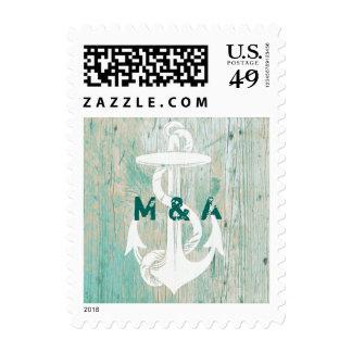 Boda, ancla, sello personalizado