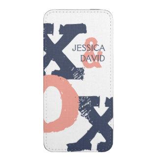 Boda azul y rosado de XOX Funda Acolchada Para iPhone