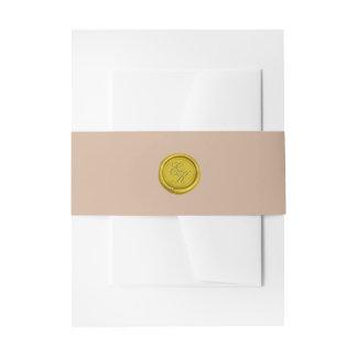 Boda beige del sello de la cera del monograma de lazos para invitaciones de boda