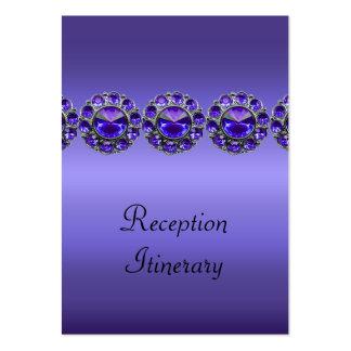 Boda Bejeweled apasionado púrpura Tarjetas De Visita Grandes