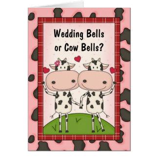 Boda Belces - vacas Felicitación