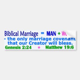 Boda bíblica etiqueta de parachoque