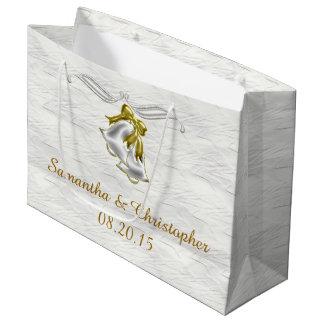 Boda blanco bolsa de regalo grande