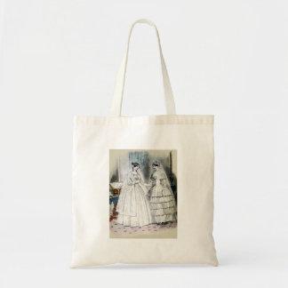 Boda blanco de la antigüedad nupcial de las novias bolsa tela barata