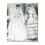 Boda blanco de la antigüedad nupcial de las novias impresiones en lona