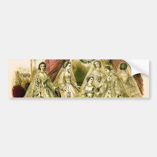Boda blanco de la antigüedad nupcial de las novias pegatina para auto