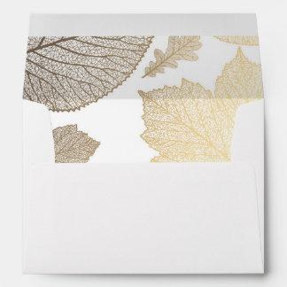 boda blanco de la caída del vintage de las hojas sobres