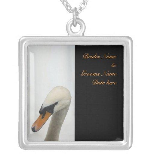 Boda blanco del cisne joyeria