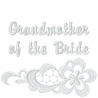 Boda blanco del cordón - abuela de la novia