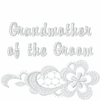 Boda blanco del cordón - abuela del novio