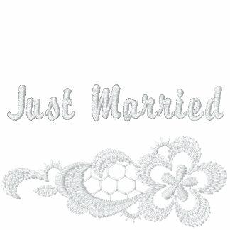 Boda blanco del cordón - apenas casado
