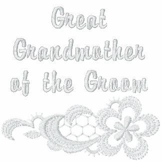 Boda blanco del cordón - bisabuela - novio