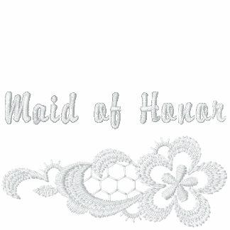 Boda blanco del cordón - criada del honor