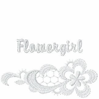 Boda blanco del cordón - Flowergirl