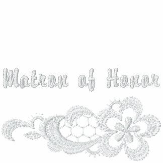 Boda blanco del cordón - matrona del honor