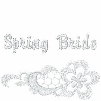 Boda blanco del cordón - novia de la primavera