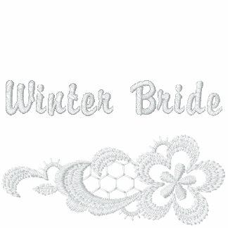Boda blanco del cordón - novia del invierno