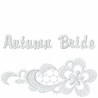 Boda blanco del cordón - novia del otoño