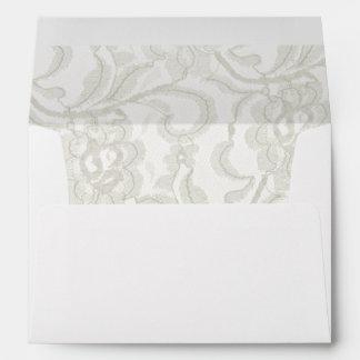 Boda blanco del cordón sobres