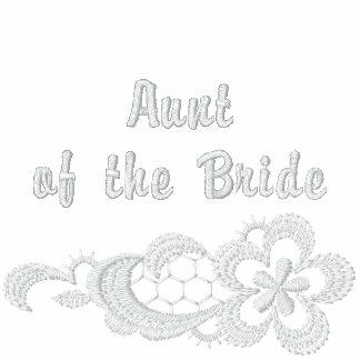 Boda blanco del cordón - tía de la novia