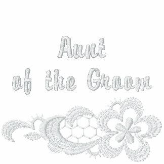 Boda blanco del cordón - tía del novio