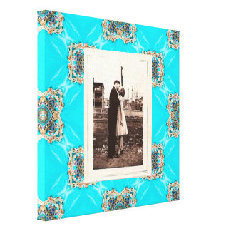 boda bohemio del modelo de la turquesa del trullo impresiones en lienzo estiradas
