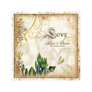 Boda botánico del amor de los lirios del lirio per lona estirada galerías
