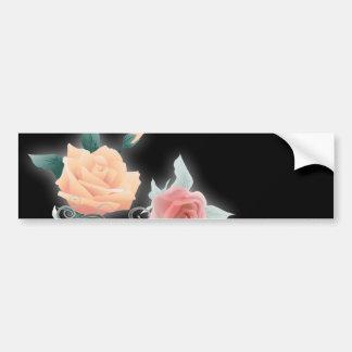 boda botánico floral negro del vintage pegatina para auto
