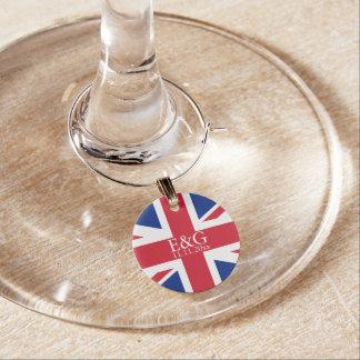 Boda británico de la bandera BRITÁNICA de Union Ja Identificador De Copa