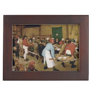 Boda campesino de Pieter Bruegel la anciano Caja De Recuerdos