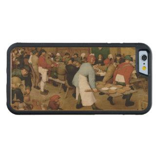 Boda campesino de Pieter Bruegel la anciano Funda De iPhone 6 Bumper Arce