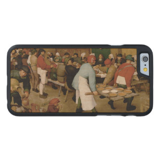 Boda campesino de Pieter Bruegel la anciano Funda De iPhone 6 Carved® De Arce