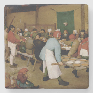 Boda campesino de Pieter Bruegel la anciano Posavasos De Piedra