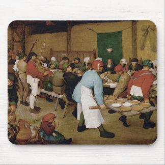 Boda campesino de Pieter Bruegel la anciano Alfombrillas De Raton