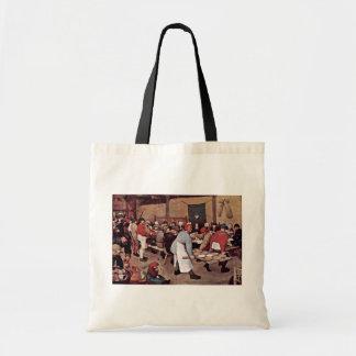 Boda campesino por Bruegel D. Ä. Pieter Bolsa Lienzo