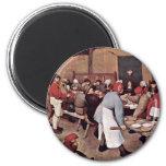 Boda campesino por Bruegel D. Ä. Pieter Imán Redondo 5 Cm